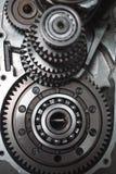 传输 金属齿轮 免版税图库摄影
