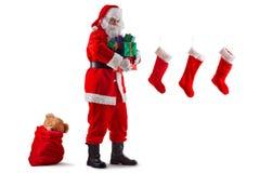 传送圣诞老人 库存照片