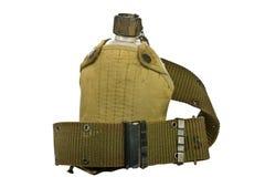 传送带军用餐具弹药筒盖子葡萄酒 图库摄影