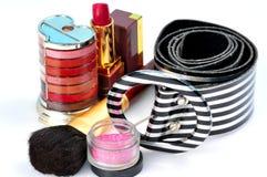 传送带化妆用品 免版税图库摄影