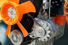 传送带发动机风扇新的视图 免版税库存照片
