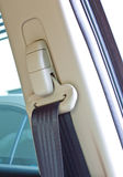 传送带汽车挂衣架安全性 库存图片