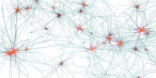 传送的突触、神经元或者神经细胞 库存例证