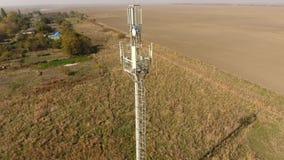 传递的多孔和流动信号设备 蜂窝电话塔 股票视频