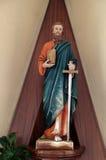 传道者保佑的大教堂克赖斯特切奇玻璃新的保罗圣礼圣徒弄脏了西兰 库存照片