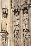 传道者大教堂详细资料门巴伦西亚 库存照片