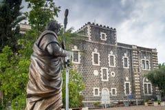 传道者彼得和C的方济会修士修道院的雕塑 免版税图库摄影