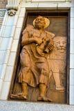 传道者标记雕象 免版税库存图片