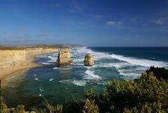 传道者澳洲极大的海洋路十二 库存照片