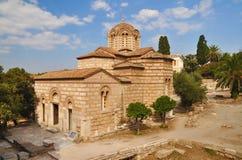传道者雅典娜教会圣洁的希腊 免版税库存图片