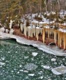 传道者Islands全国湖岸是在苏必利尔湖的一个普遍的旅游目的地在威斯康辛 免版税库存照片