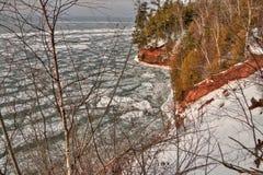 传道者Islands全国湖岸是在苏必利尔湖的一个普遍的旅游目的地在威斯康辛 库存照片