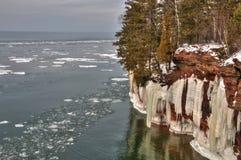 传道者Islands全国湖岸是在苏必利尔湖的一个普遍的旅游目的地在威斯康辛 库存图片