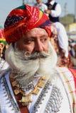 传统上加工好的Rajasthani人 免版税图库摄影