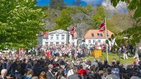 传统上庆祝的加工好的参加者5月17日的 免版税库存图片