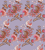 传统东部无缝的图画peyslinsky围巾 免版税库存图片