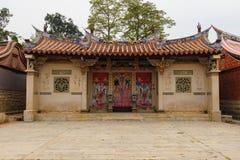 传统中国式房子在台湾 免版税库存照片