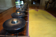 传统中Kadazan锣 免版税图库摄影