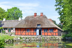 传统丹麦的房子 免版税图库摄影