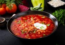 传统乌克兰俄国罗宋汤用白豆 库存照片