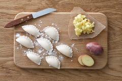 传统乌克兰饺子 免版税库存图片