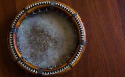 传统乌兹别克人乐器doira, 库存照片