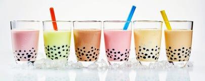 传统亚洲乳状泡影茶 免版税图库摄影