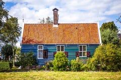 传统住宅荷兰大厦特写镜头 免版税库存照片