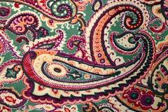 传统佩兹利样式丝绸背景 库存照片