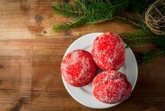 传统俄国和乌克兰圣诞节甜点酥皮点心 库存照片