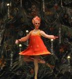 传统俄国女孩第二个行动第二领域糖果王国-芭蕾胡桃钳 免版税图库摄影