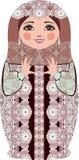 传统俄国matryoshka (matrioshka)玩偶,在全国样式服装 库存照片
