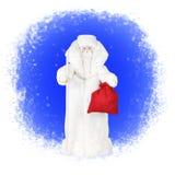 传统俄语圣诞老人 库存照片