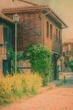传统保加利亚的房子 库存图片