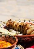 传统保加利亚语烤集会盘 免版税图库摄影