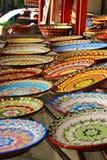 传统保加利亚陶瓷板材 免版税图库摄影