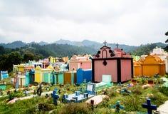 传统公墓在奇奇卡斯特南戈-危地马拉 库存照片