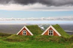 传统农厂议院,冰岛 库存照片