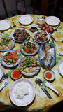 传统农历新年晚餐 库存照片