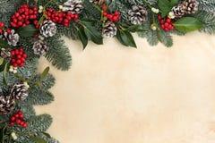 传统冬天边界 库存图片
