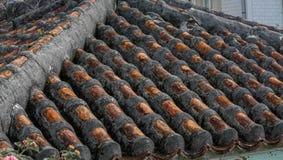 传统冲绳屋顶 库存图片