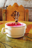 传统冷的甜菜汤 免版税图库摄影