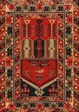 传统几何种族东方古董地毯纺织品 免版税库存图片