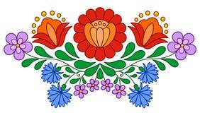 传统匈牙利民间刺绣样式 向量例证