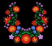传统匈牙利民间刺绣样式 库存例证