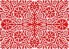 传统匈牙利葡萄酒刺绣样式 免版税库存照片