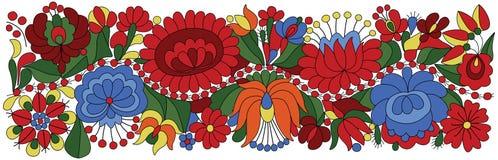 匈牙利刺绣主题 向量例证