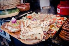 传统匈牙利食谱卖了在街道食物搬运车在 库存图片
