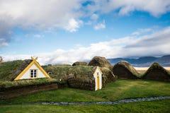 传统北欧海盗房子 免版税库存照片