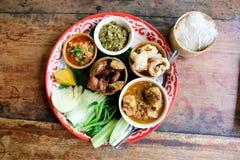 传统北混合泰国食物 免版税图库摄影